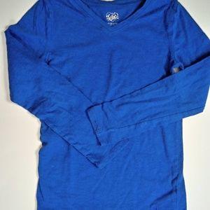 Girls Blue Long Sleeve Tshirt 10 12